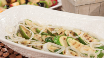 Grilled Zucchini with Sautéd Onions by Curtis & Paula Eakins