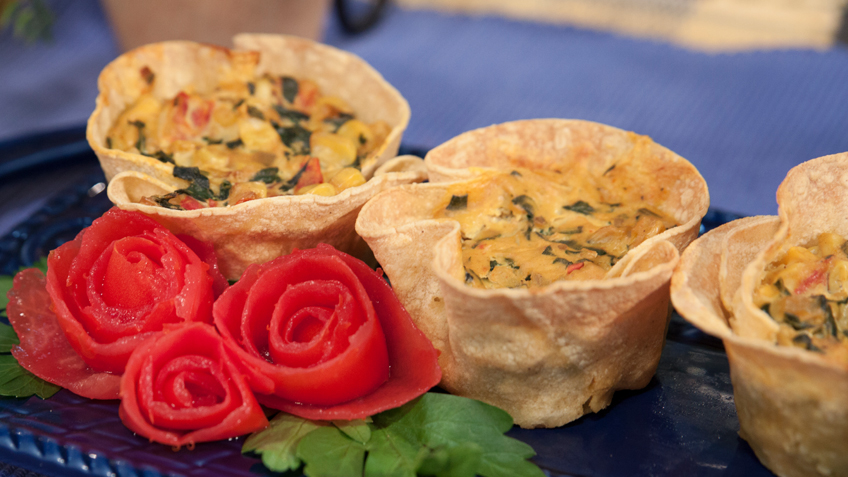 Garden Frittata Tarts by The Micheff Sisters