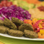 Mediterranean Salad with Mini Falafels by the Micheff Sisters