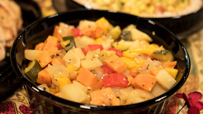 Spicy Oven Roasted Vegetables by Curtis & Paula Eakins