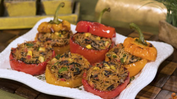 Italian Stuffed Roasted Peppers by The Micheff Sisters
