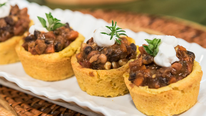 Chili Cornbread Bowls by The Micheff Sisters