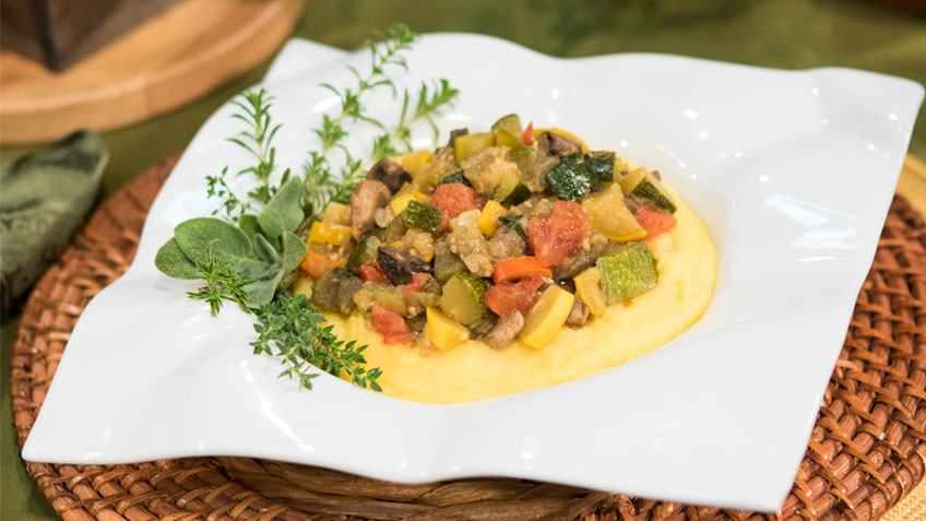 Ratatouille Polenta Bowl by The Micheff Sisters