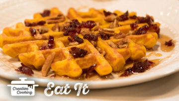 Vegan Sweet Potato Waffles by The Holmes Sisters