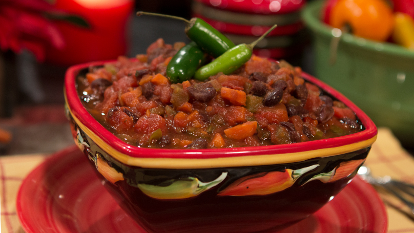 Spicy Tomato Black Bean Soup by The Micheff Sisters